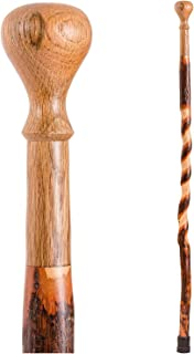 product image for Brazos Walking Cane for Men and Women Handcrafted of Lightweight Wood and made in the USA, Hickory, 40 Inches