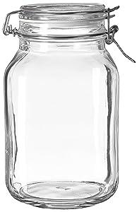 Bormioli Rocco Fido Clear Glass Jar with 85 mm Gasket, 2 Liter