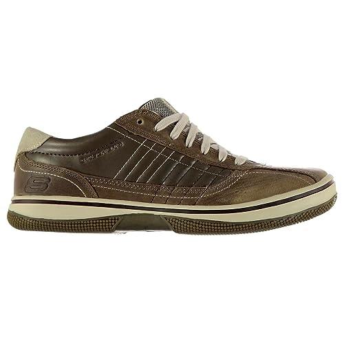 Skechers - Zapatillas para hombre, color marrón, talla 42.5