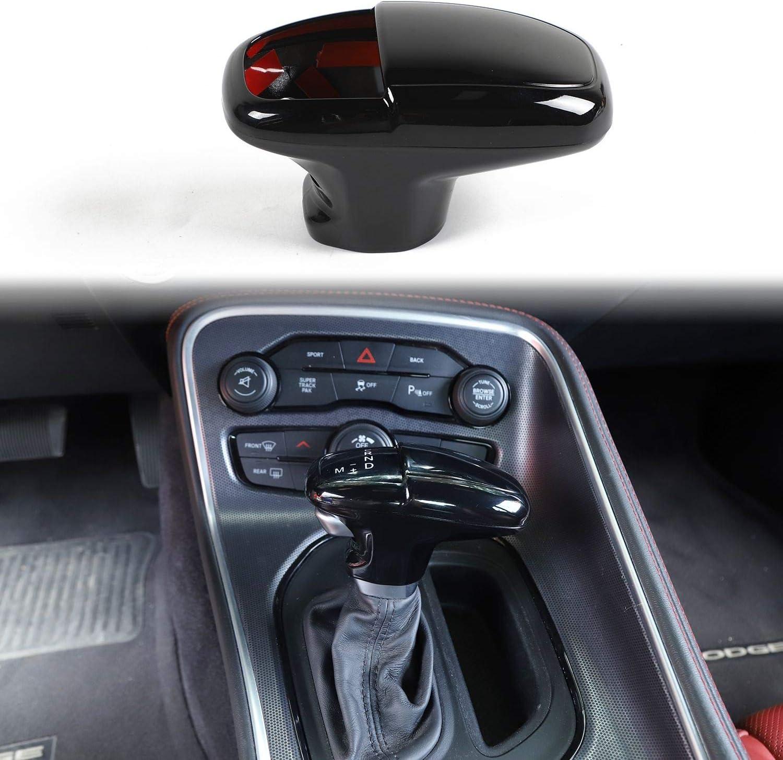 Voodonala for Challenger Charger ABS Carbon Fiber Gear Shift Trim Knob for 2015-2020 Dodge Challenger Charger 3pcs