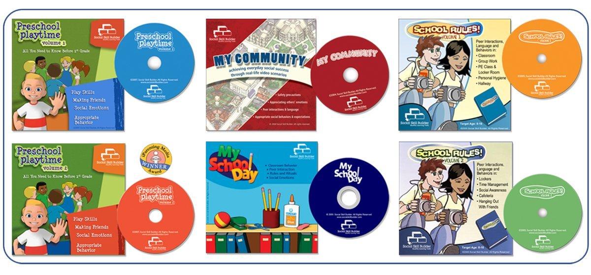 My School Day Enhanced CD-ROM Educational Classroom Social Skills Ages 6-12