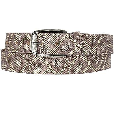 6c2d1ee08fb8 Vanzetti ceinture pour femme avec Python, Largeur   3,5 cm, 80-105 cm   Amazon.fr  Chaussures et Sacs