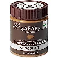 BARNEY Almond Butter, Chocolate, Paleo Friendly, KETO, Non-GMO, Skin-Free, 10 Ounce