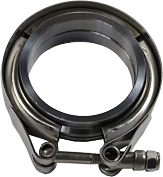 Design Engineering 010214 Stainless Steel Wide Band T-Bar Exhaust Clamp 2.25-2.56
