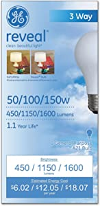 Ge Lighting 97785 3 Way 50 100 150 Incandescent Soft White Light Bulb