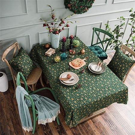 SONGHJ Algodón y Lino Copo de Nieve de Navidad Mantel Cocina Muebles de Sala decoración Mesa Cubierta rectángulo Boda Mantel B 140x180cm / 55x71in: Amazon.es: Hogar