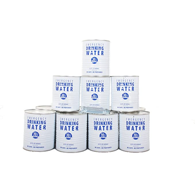 Amazon.com: Caso de conservas de agua potable (12 latas ...