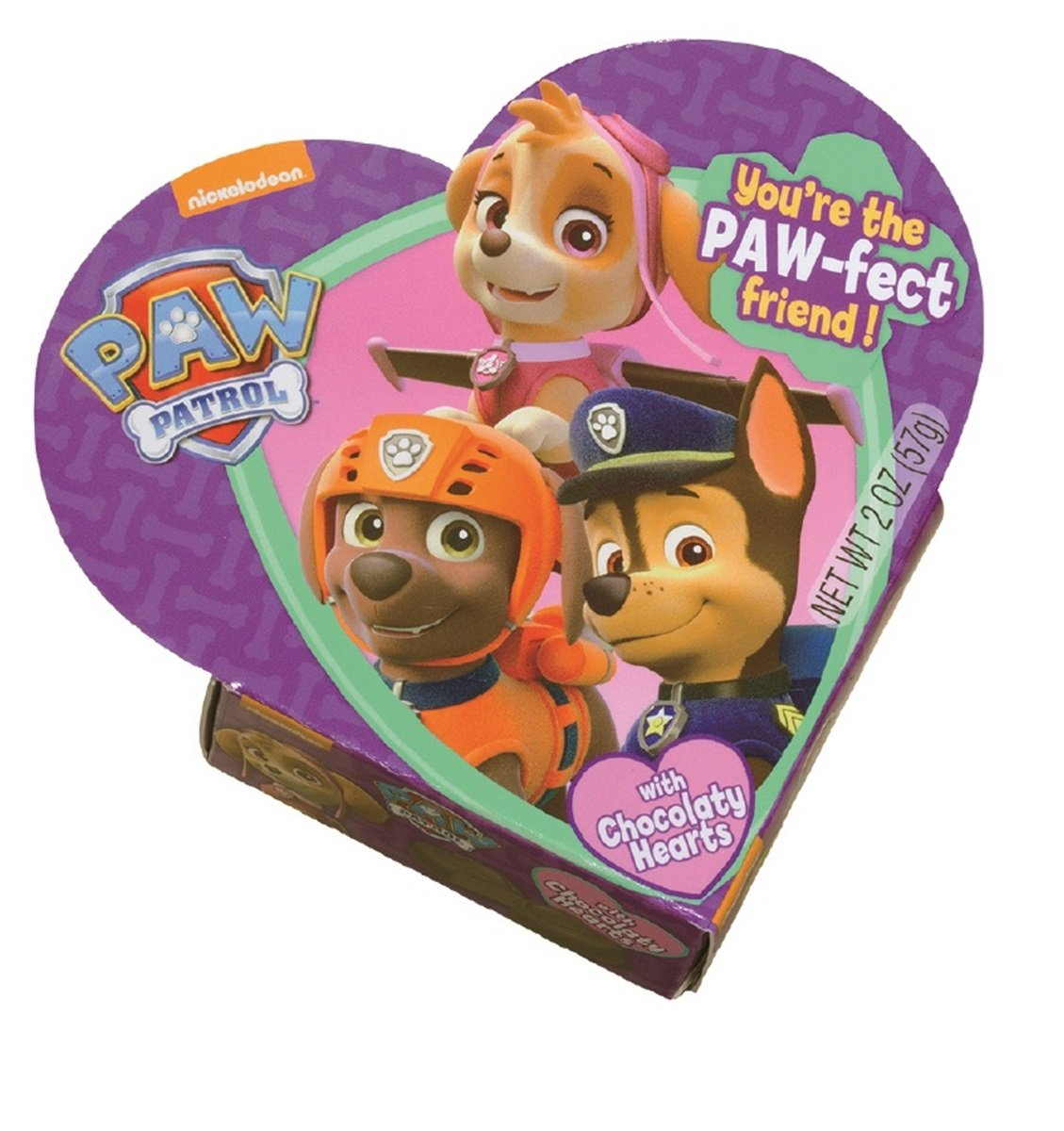 Amazon.com : Nickelodeon PAW Patrol Valentines Day Heart Gift Box with Chocolate Heart Candy, 2