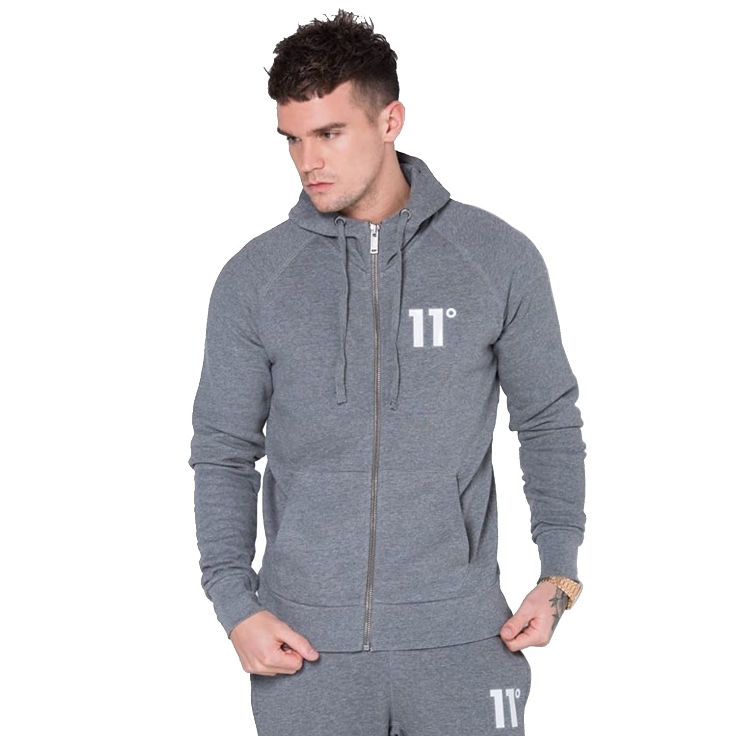 Eleven Degrees 11 Degrees 11D-653 Core Zip Up Hoodie - Charcoal Large Charcoal