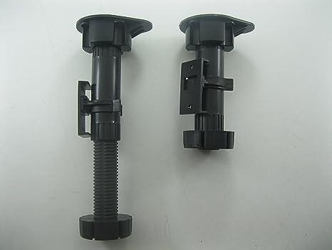Hnfshop regolabile altezza plastica armadietto gamba piede per