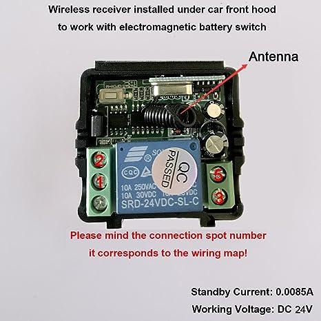 Auto Batterieschalter, CoCar Auto Kfz 24V Elektromagnetisch ...