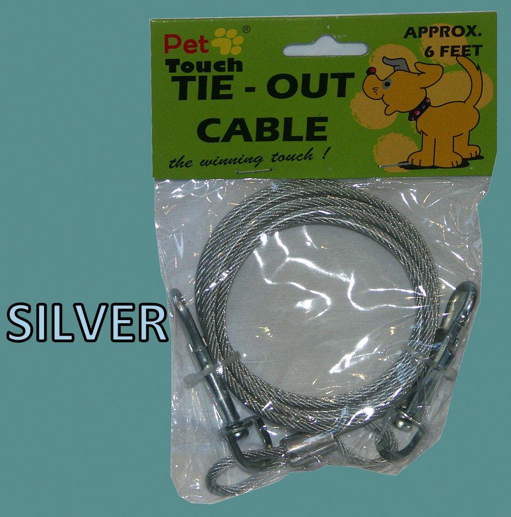 Argent pour chien animal de jardin hors sol Câble spirale à vis en plomb métallique solide Guaranteed4less HT751_SILVER