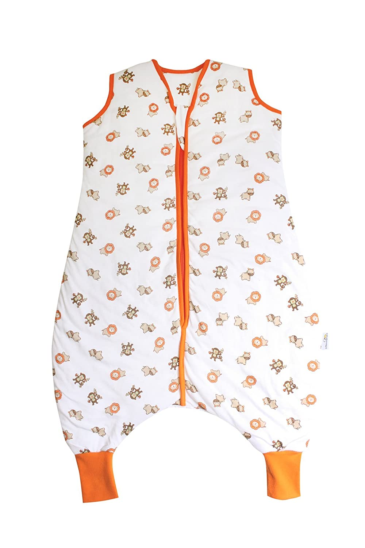 Slumbersac Summer Sleeping Bag with Feet 1.0 Tog Simply Zoo Animals 3-4 Years