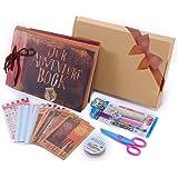 Our Adventure Book Pixar Up Handmade DIY Family Scrapbook , Wedding Photo Album, Retro Album, Anniversary Scrapbook , Wonderful Gift for Thanks Giving Gift , Christmas Gift ,with Bonus Gift Box