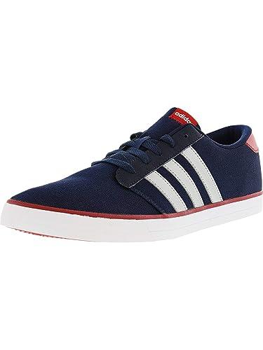 ada043119179 adidas Men s VS Skate Collegiate Navy Silver Scarlet Athletic Shoe