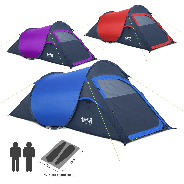 sc 1 st  Amazon UK & Trail Pop-Up Tent - Blue/Charcoal: Amazon.co.uk: Sports u0026 Outdoors