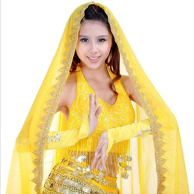 Belly Dance Veil Silk-like Big veil Bollywood Colorful Dancing Scarf Shawl US