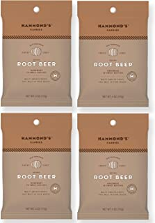 product image for Hammond's Candies - Old Fashioned Root Beer Pantry Candies - 4 - 4 Ounce Bags, Natural Root Beer Drops, Handmade in Small Batches, Using the Finest Ingredients, Handcrafted in the USA
