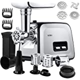Altra Electric Meat Grinder, 6-IN-1 Meat Mincer& Vegetable Slicer/Shredder& Sausage Stuffer, Burger/Slider Maker, 2 Meat Claw