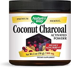 Nature's Way Activated Charcoal; 800 mg Charcoal per serving; Powder; BPA Free Packaging (Packaging May Vary)
