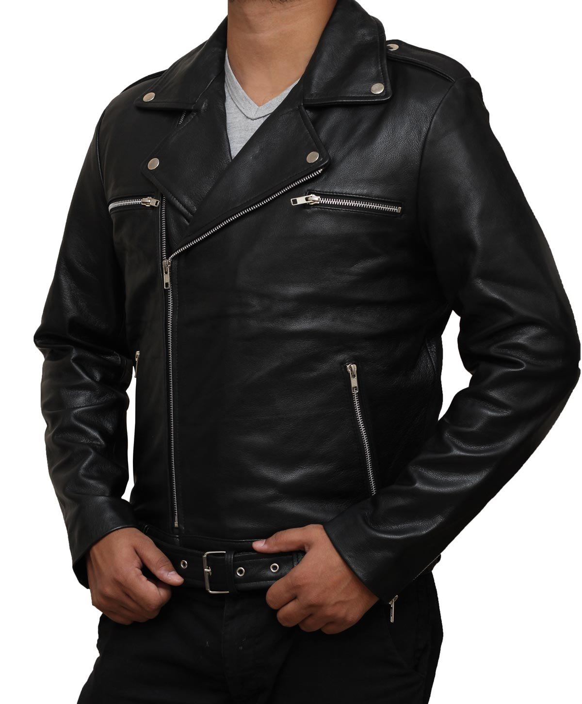 The Walking Dead Season 7 Black Negan Leather Jacket - Christmas Gift XL