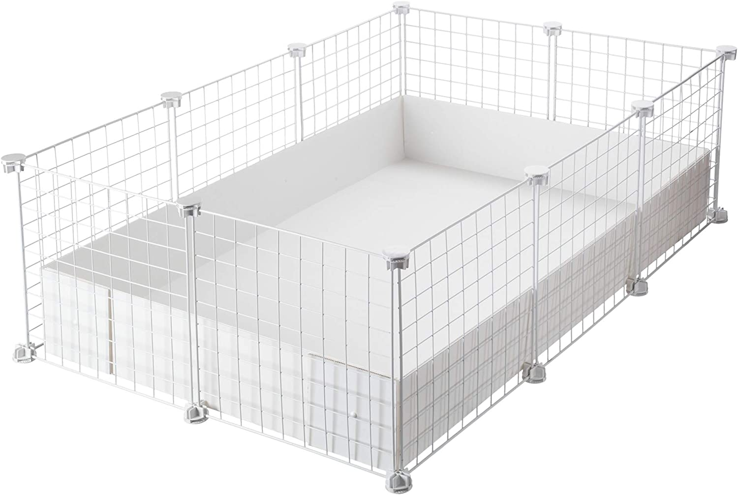 BIG C/&C cage 2X4 panels in Black CagesCubes + Black Coroplast Base for guinea pigs