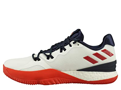 buy popular 8f625 3e78c adidas Mens Crazy Light Boost 2018 Basketball Shoes, (FTWR  WhiteScarletCollegiate