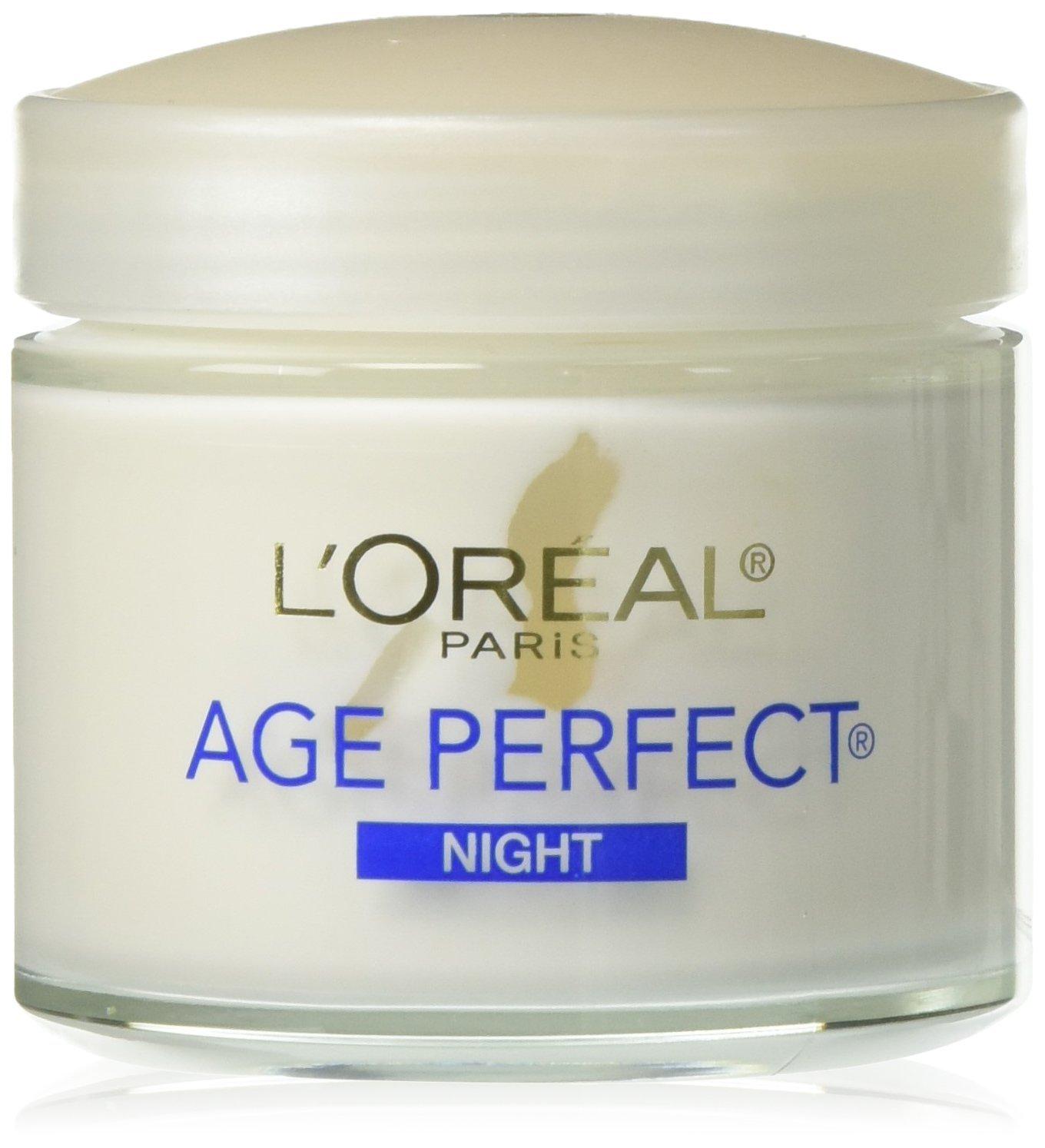 L'Oréal Paris Age Perfect Night Cream Face Moisturizer to Firm Skin Bonus Pack, 3.4 oz.