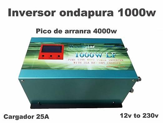 Inversor 1000W 12V to AC 230V pure power Inverter Converter ...