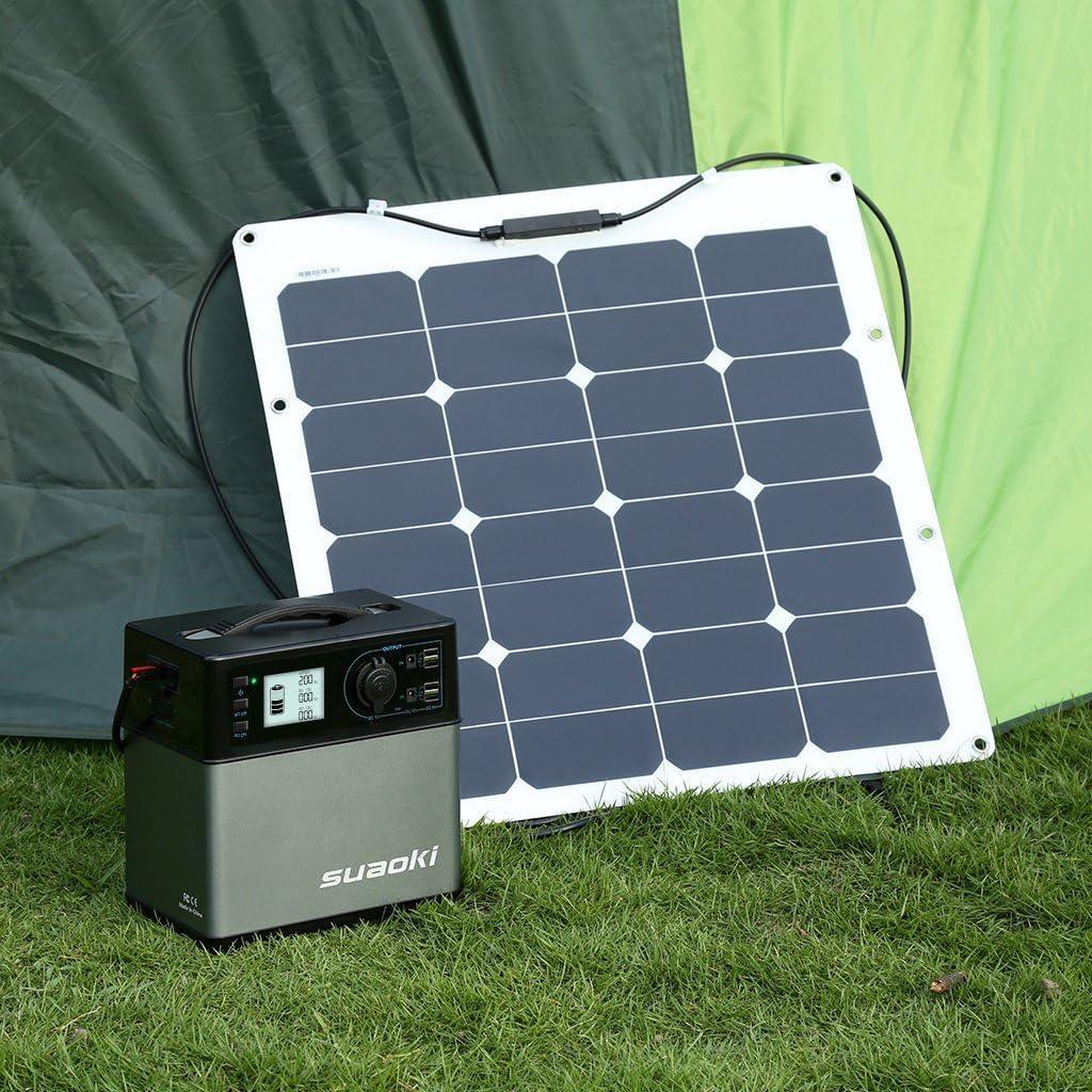 Suaoki 400 Wh 120 000 Notebook Solar Generator Storage Capacity Power Supply Output Ac Boat Car 4 Port Usb Ac And Dc Inverter Cover Car Cigarette Lighter Socket Baumarkt