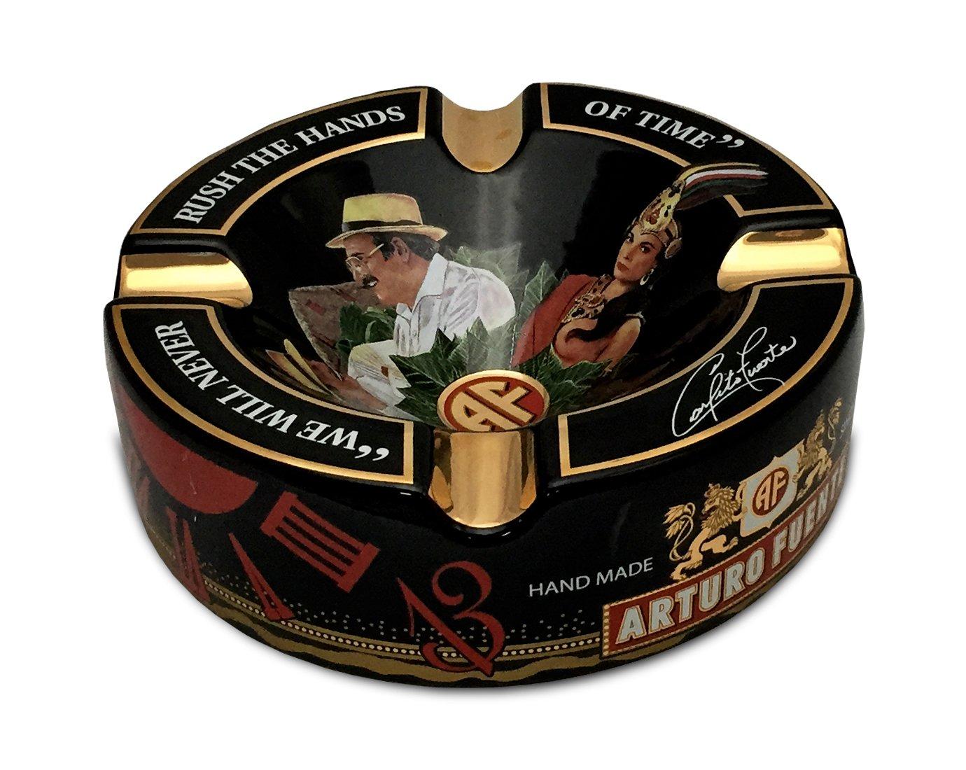 Limited Edition Large 8.75'' Arturo Fuente Porcelain Cigar Ashtray Black by Arturo Fuente