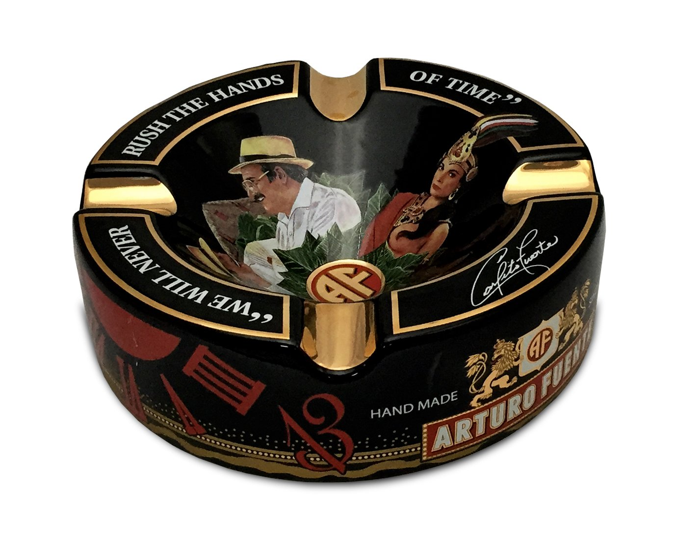 Limited Edition Large 8.75'' Arturo Fuente Porcelain Cigar Ashtray Black by Arturo Fuente