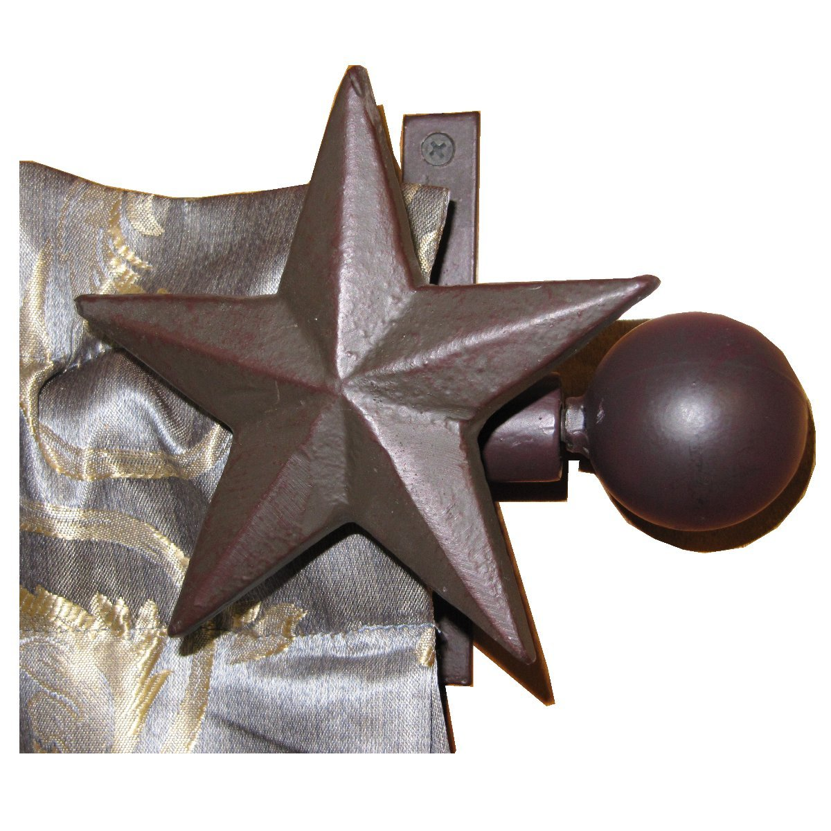 Amazon.com: LL Home Metal Star Curtain Rod and 2 Brackets: Home ...