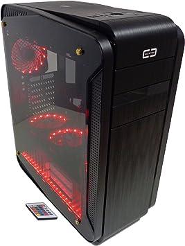 Cortek Genesi Torre Negro Carcasa de Ordenador - Caja de Ordenador (Torre, PC, ATX, Negro, 0,7 mm, Rojo): Amazon.es: Informática