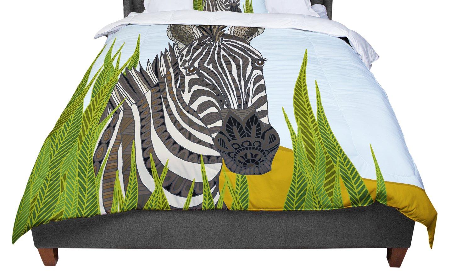 KESS InHouse Art Love Passion 'Zebra' Black White King / Cal King Comforter, 104' X 88'