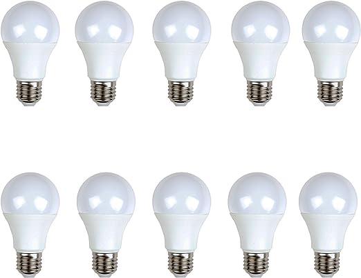 LED estándar (pack 10 unidades) 12W 200º Blanco neutro 4500K E27 1200lm 220V-240v Alta calidad: Amazon.es: Iluminación