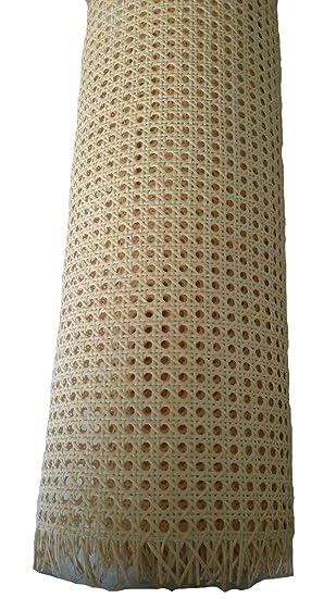 Kit de Rejilla Mimbre para reparación de sillas, Incluye junquillo para su Montaje (46 x 50 cm)