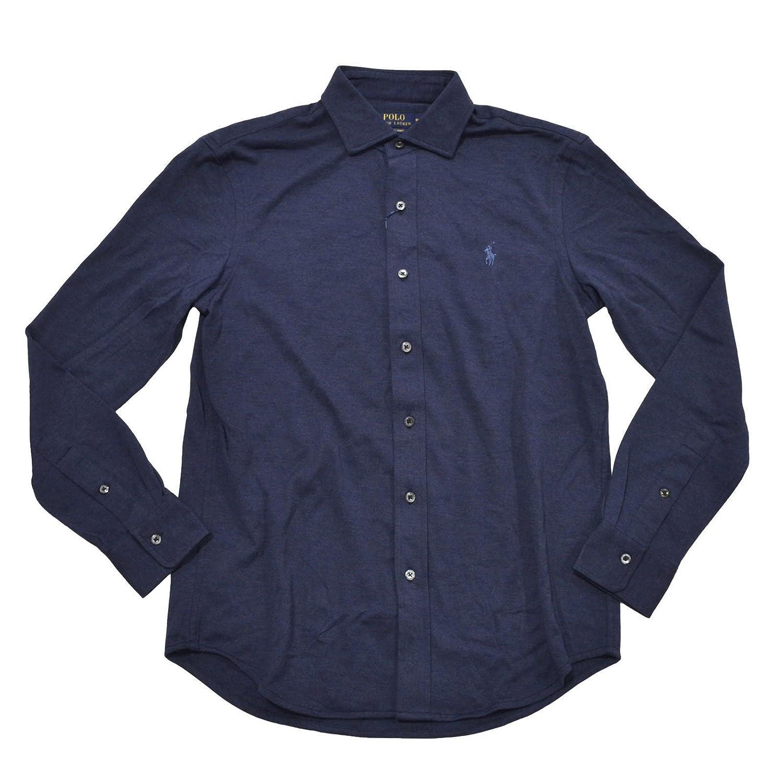 Polo Ralph Lauren Mens Long Sleeve Knit Dress Button Down Shirt