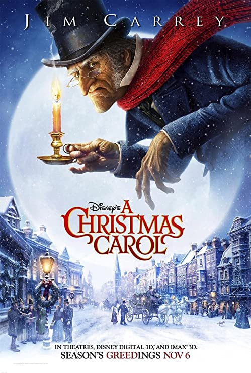 Amazon.com: A CHRISTMAS CAROL MOVIE POSTER 2 Sided ORIGINAL Advance 27x40  JIM CARREY: Posters & Prints