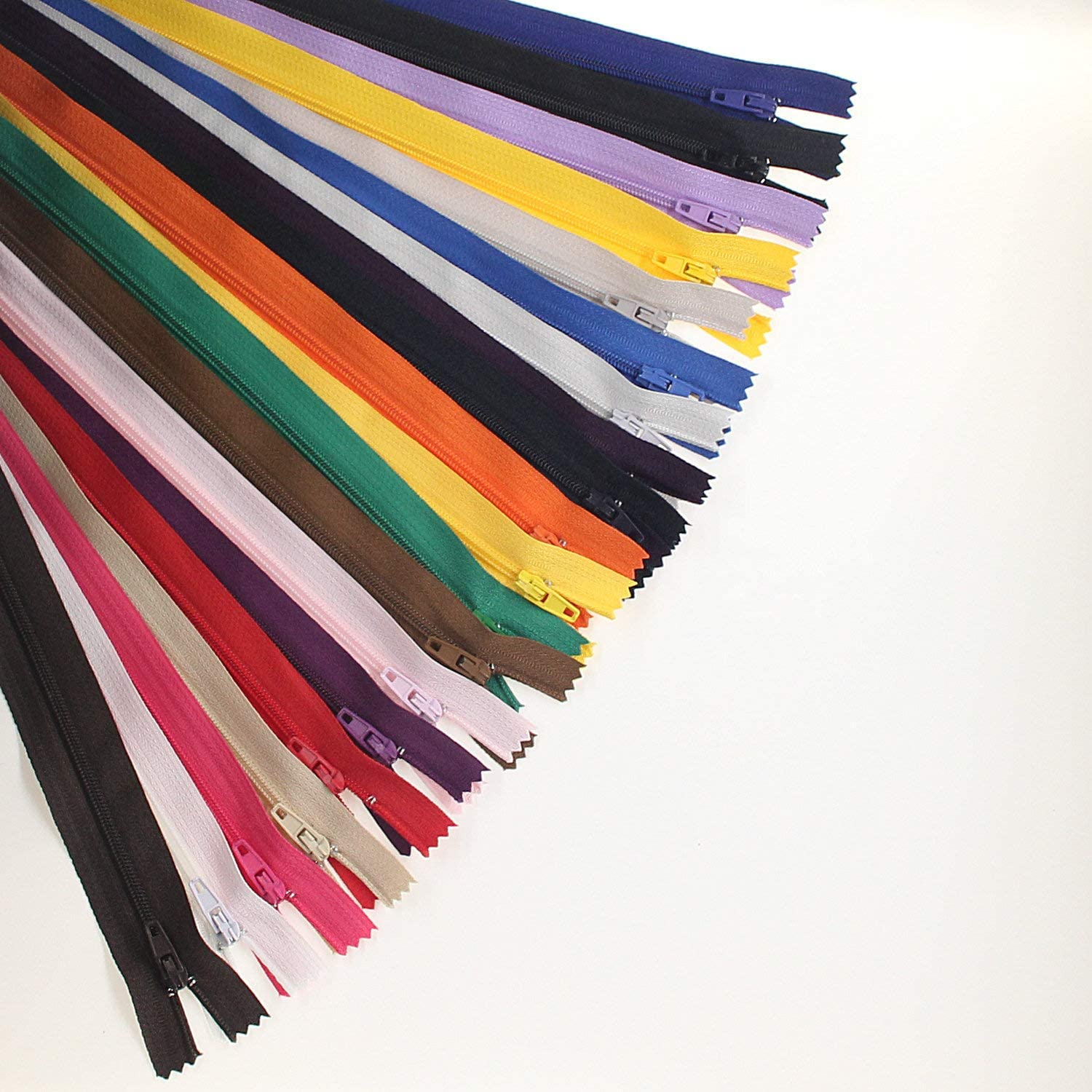 WKXFJJWZC 80pcs 12 Inch 30cm Nylon Coil Zippers for Tailor Sewing Crafts Nylon Zippers Bulk 40 Colors