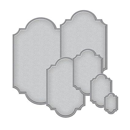 Amazon.com: Spellbinders S5-127 Nestabilities Labels Templates, set ...