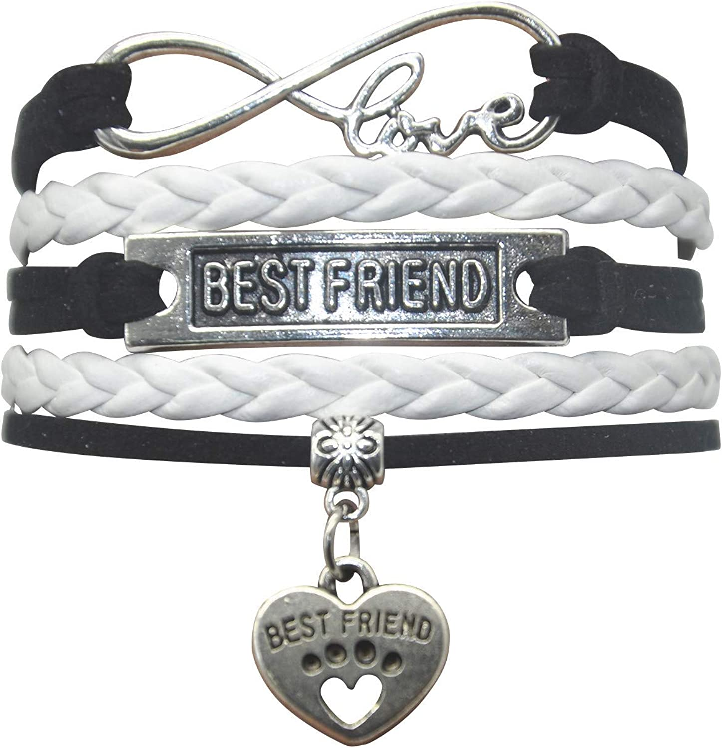 for 2 Best Friends Women Girls Sister or BFF Bracelet for Teen Girl Friend Personalised Cute Distance Matching Jewelry Gifts for Bestfriend Unique Gift Card Lovean Friendship Bracelets