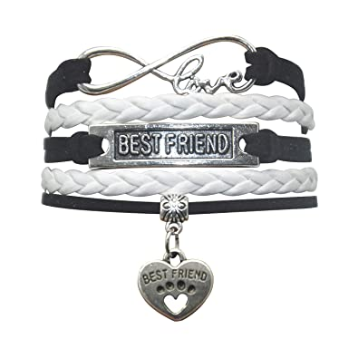 16467733fb HHHbeauty Best Friend Friendship Bracelet (2018 Leather Infinity Love  Friendship Gifts Best Friend Bracelets for
