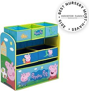 Delta Children Multi-Bin Toy Organizer, Peppa Pig