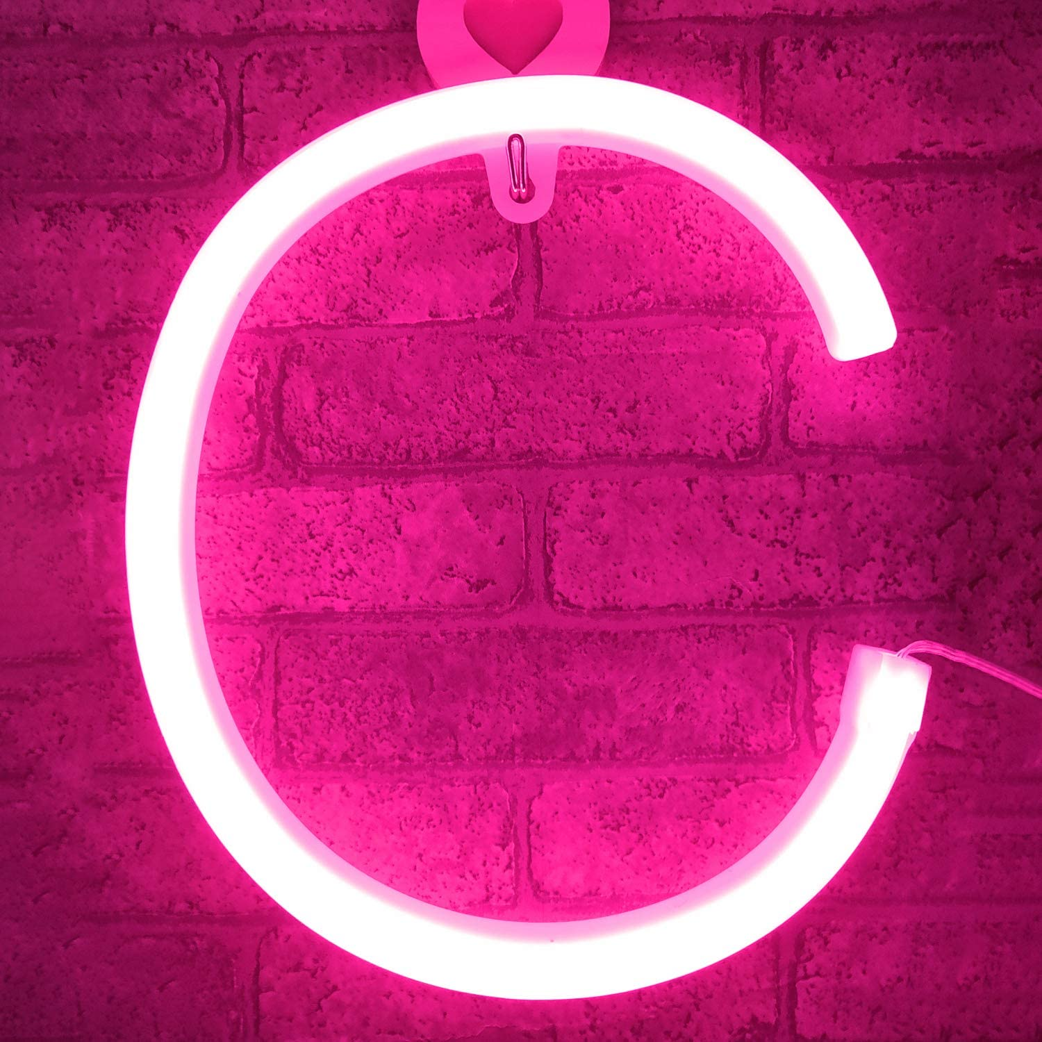 Pink LED Neon Letters Light Up Alphabet Sign Marquee Letter Decor Night Lights for Birthday Party,Anniversary,Bar,Christmas,Gifts,Wedding Party(Pink Letters)