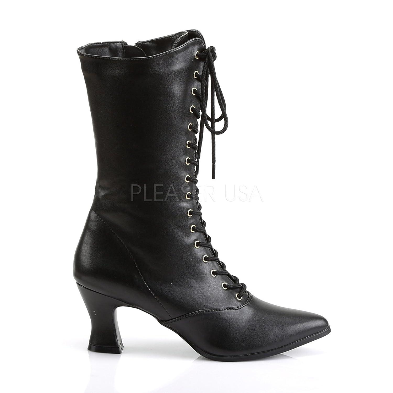 03c6697993443 Amazon.com   Pleaser Victorian Granny Boot 2 3/4 Inch Heel w Side Zipper  120   Mid-Calf