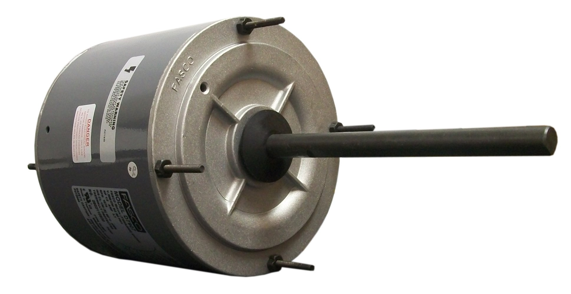 Fasco D7907 5.6-Inch Condenser Fan Motor, 1/2 HP, 208-230 Volts, 1075 RPM, 1 Speed, 3.7 Amps, Totally Enclosed, Reversible Rotation, Ball Bearing
