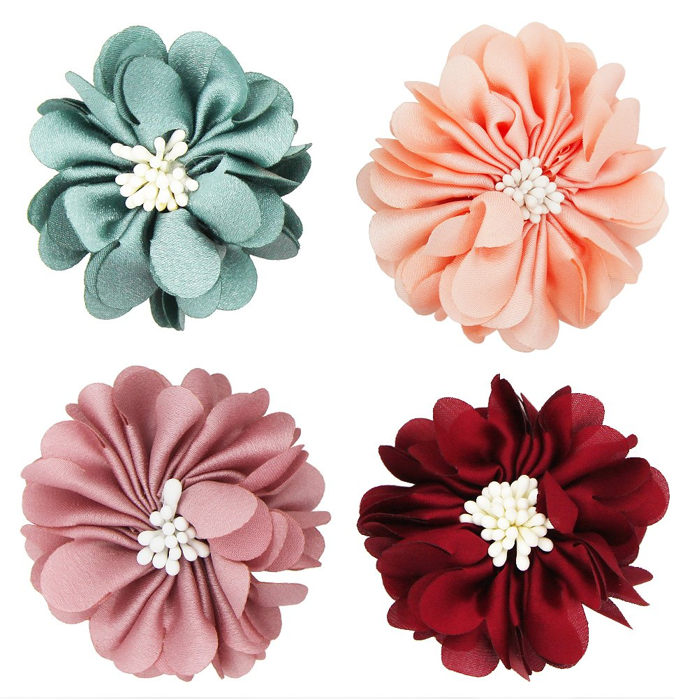 SUNYUM Dog Collar Flowers Pet Charms Flower Collars Accessories For Cat Puppy Bowtie Grooming Decoration Pack of 4
