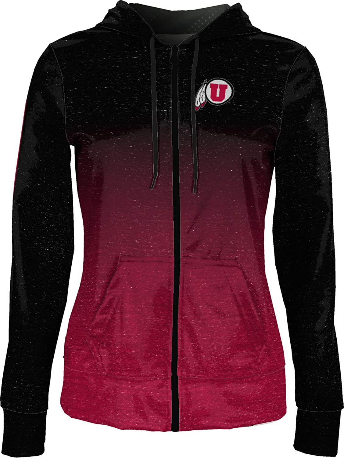 ProSphere University of Utah Girls Zipper Hoodie School Spirit Sweatshirt Ombre