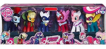 amazon com my little pony 6 power pony 6 pack toys games